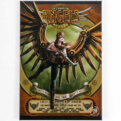 Steampunk Angels Fridge Magnet - Anne Stokes