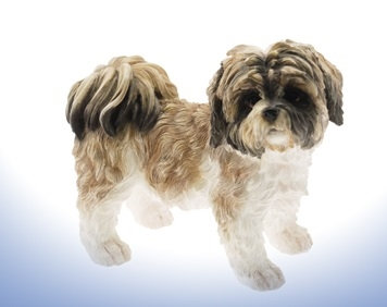 Leonardo Brown and White Shih Tzu Dog Ornament