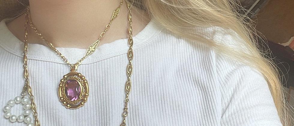 50s beautiful goldplated pendant/brooch