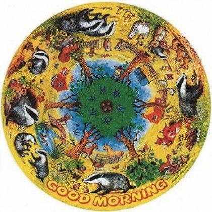 Good Morning 500 Piece Circular Jigsaw Puzzle