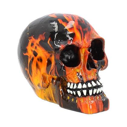 Inferno Skull Ornament 8cm
