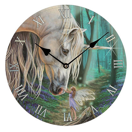 Fairy Whispers Unicorn Picture Clock - Lisa Parker