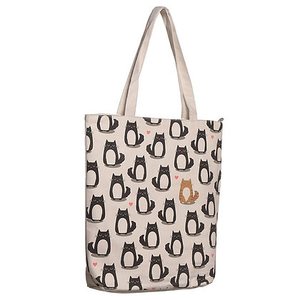 Feline Fine Cat Cotton Bag