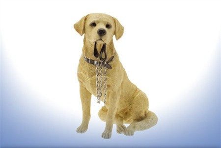 Leonardo Walkies Golden Labrador Dog Ornament