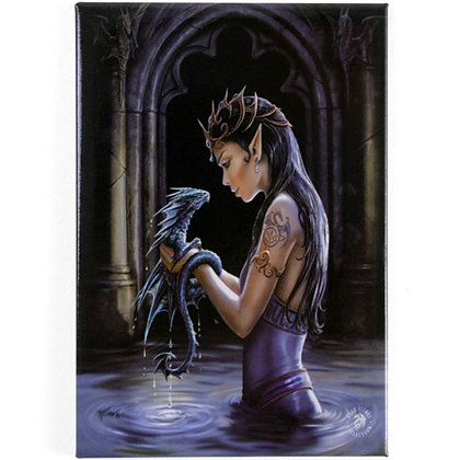 Water Dragon Fridge Magnet - Anne Stokes