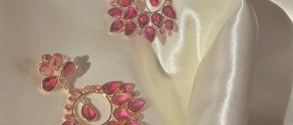 Strawberry Pink Tourmaline earrings