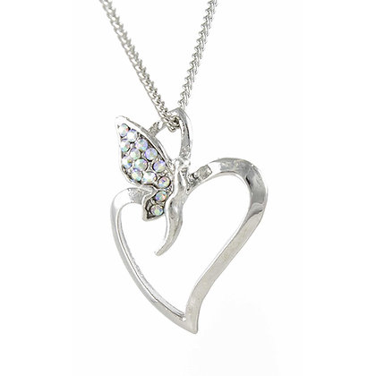 Fairy on Heart Pendant