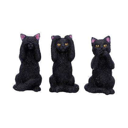 Three Wise Felines Ornament 8.5cm
