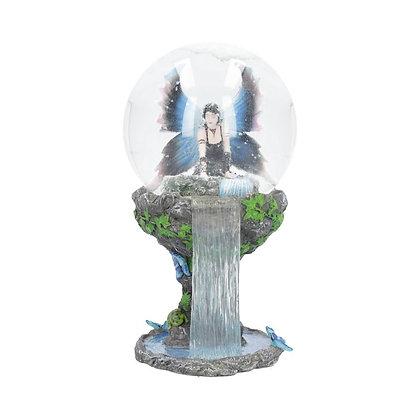 Immortal Flight Fairy Snowglobe Ornament - 20cm - Anne Stokes