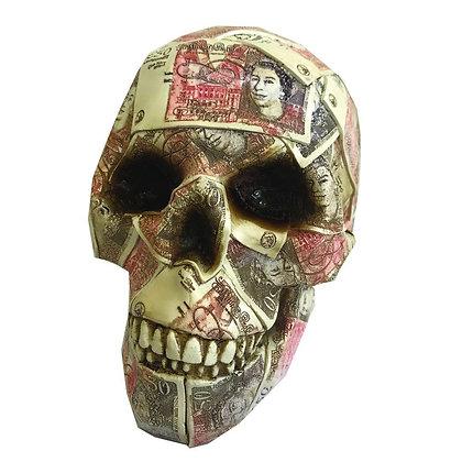 Quids in Skull Money Box Ornament 19.5cm
