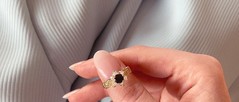 18kt gold-plated little flower ring