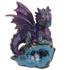 Baby Dragon With Crystal Cave Ornament
