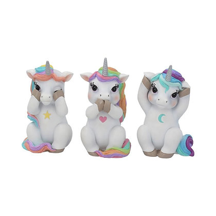 Three Wise Cutiecorn Unicorn Ornaments - 9.5cm