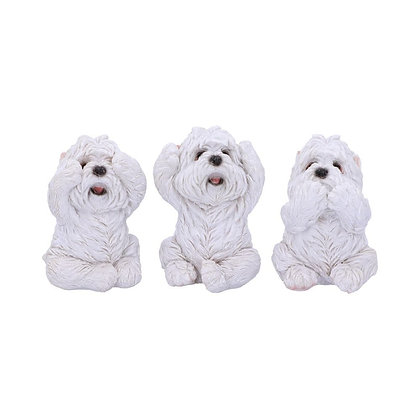 Three Wise Westie Ornaments - 8cm