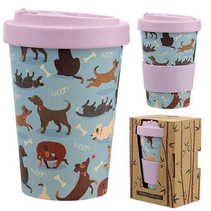 Catch Patch Dog Reusable Bamboo Travel Mug