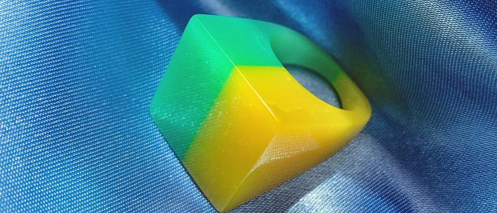 Yellow and green ring