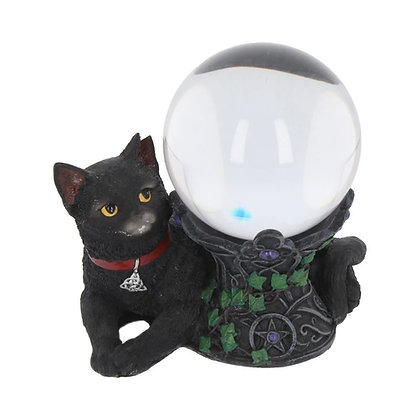 Cosmo Cat Crystal Ball Holder Ornament - 13cm