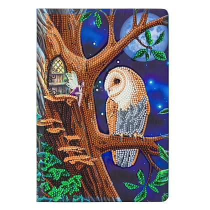 Owl and Fairy Tree Crystal Art Notebook Kit