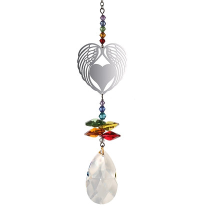 Crystal Fantasy Angel Wing Heart