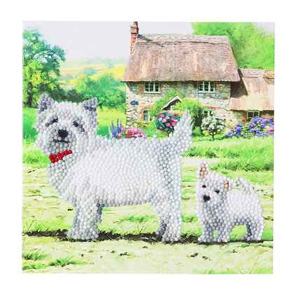 Westie Crystal Art Card Kit