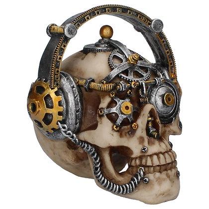 Steampunk Techno Talk Skull Ornament - 14.5cm