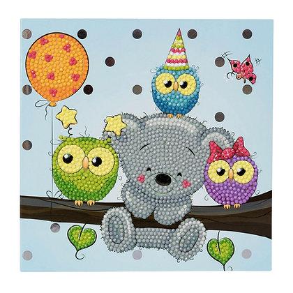 Birthday Friends Crystal Art Card Kit