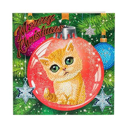 Kitten Bauble Crystal Art Card Kit