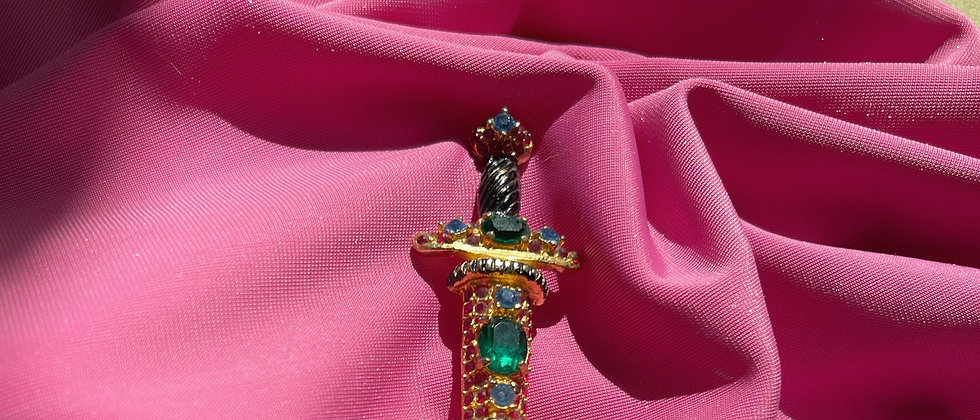 Couture sword brooch from the 80s