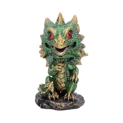 Bobling Green Dragon Ornament 9.5cm