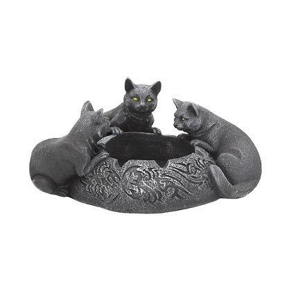 Feline Trio Cat Ashtray - 17.7cm