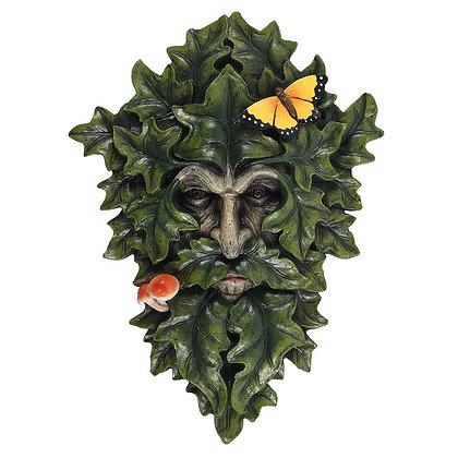 Leafy Green Man Wall Plaque - 29cm