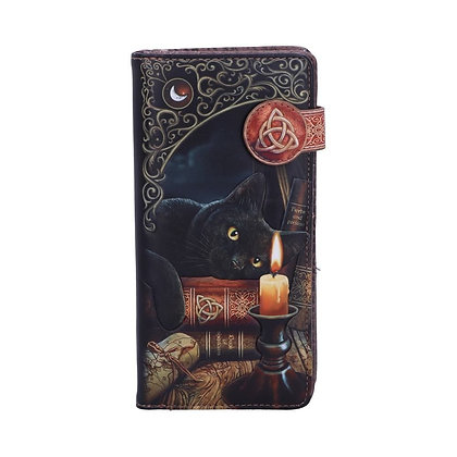 Witching Hour Black Cat Embossed Purse 18.5cm - Lisa Parker