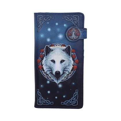 Guardian of The Fall Wolf Embossed Purse 18.5cm - Lisa Parker