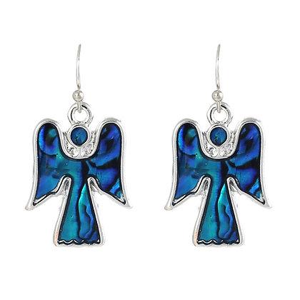 Angel Paua Shell Drop Earrings