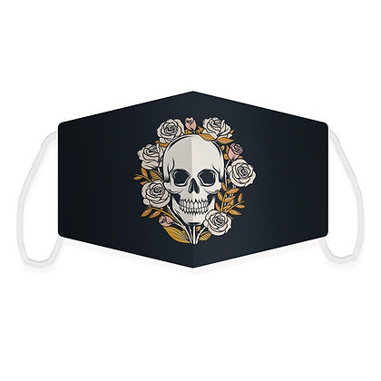 Skulls and Roses Reusable Face Covering (Large)