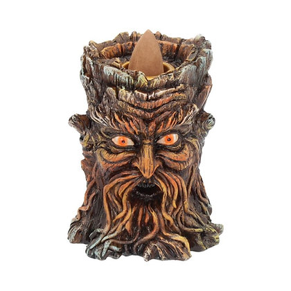 Aged Oak Tree Spirit Backflow Incense Holder - 8.5cm