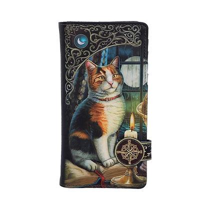 Adventure Awaits Cat Embossed Purse - 18.5cm (Lisa Parker)