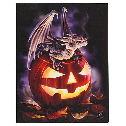 Trick or Treat Dragon - Anne Stokes Canvas