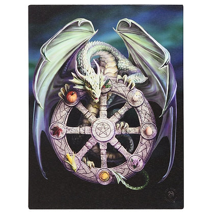 Wheel of The Year Dragon - Anne Stokes Canvas