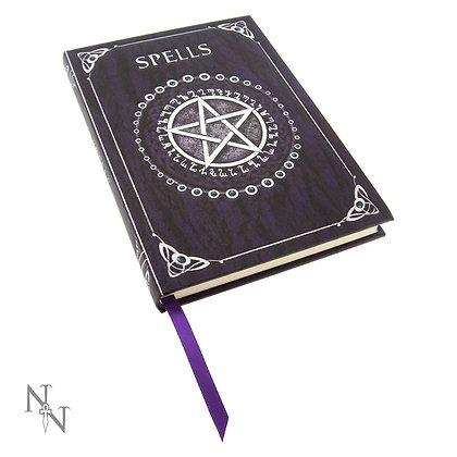 A5 Embossed Pentagram Spell Book Journal - Purple