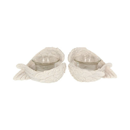 Angel Wings Tealight Holders (Set of 2) - 8cm