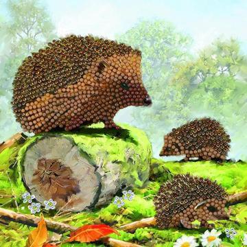 Happy Hedgehogs Crystal Art Card Kit