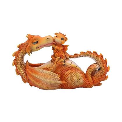Sweetest Moment Orange Dragon Ornament 20.2cm