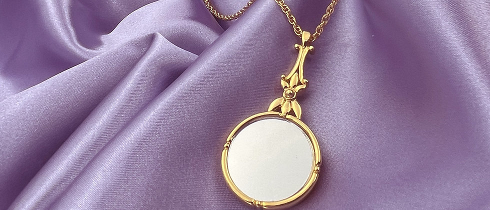 Witchy mirror necklace