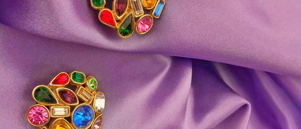 Vintage colorful clips