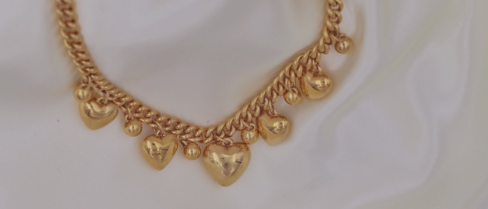 Hearts chunky necklace
