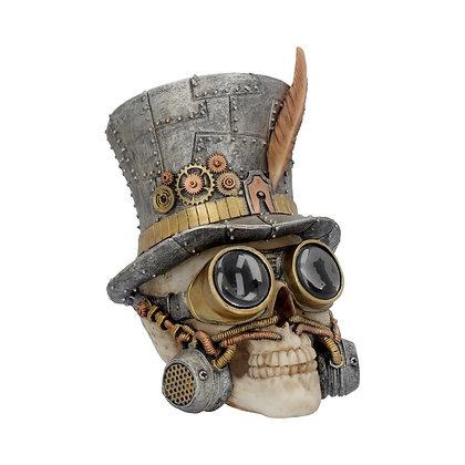 Count Archibald Steampunk Top Hat Skull Ornament - 19.5cm