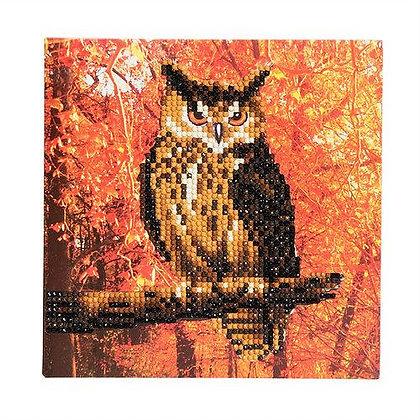 Autumn Owl Crystal Art Card Kit