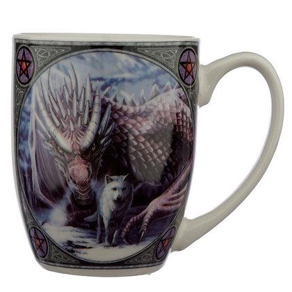 Alliance Wolf and Dragon Porcelain Mug - Lisa Parker