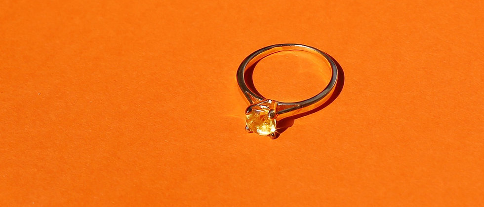 18kt gold-plated sunset ring